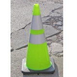Lime-Green Traffic Cones Reflective Collar 28""